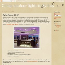Cheap outdoor lights in Sydney: Why Choose LED?