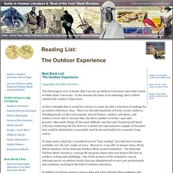 Outdoor Literature Reading List