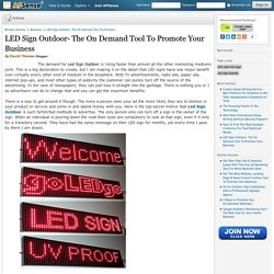 LED Sign Outdoor- The On-Demand Tool To Promote Your Business