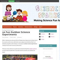 20 great outdoor science experiments