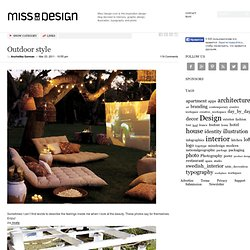 Outdoor style | Miss Design - StumbleUpon