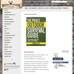 The Pocket Outdoor Survival Guide - Outdoor Pursuits Canada