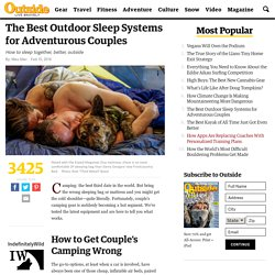 The Best Outdoor Sleep Systems for Adventurous Couples