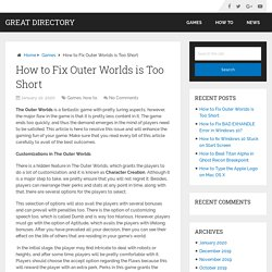 How to Fix Outer Worlds is Too Short – Great Directory