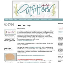 Angel Outfitters Compassionate Clothing: How Can I Help?