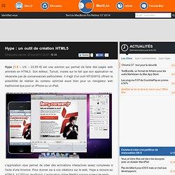 Hype : un outil de création HTML5