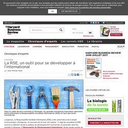 La RSE, un outil pour se développer à l'international