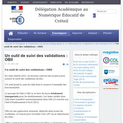 Un outil de suivi des validations : OBII