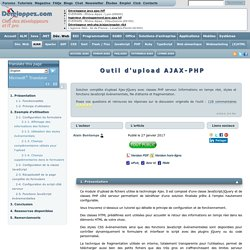 Outil Upload AJAX - PHP