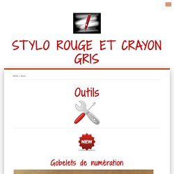 Outils - Stylo rouge et crayon gris