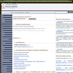 la boite à outils Access Développement Office