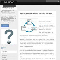 Les outils d'analyse de Twitter, et d'autres plus drôles