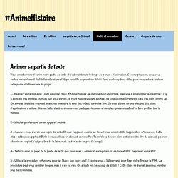 Outils et animation - Site de animehistoire !