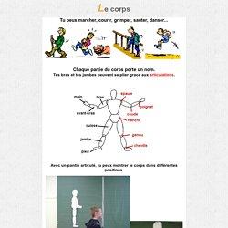 Outils pour la classe : Le corps et les articulations