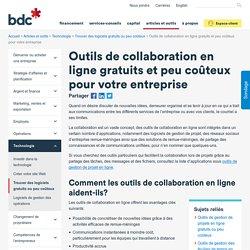 Outils de collaboration Web gratuits/peu chers