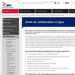 Outils de collaboration en ligne - Outils gratuits