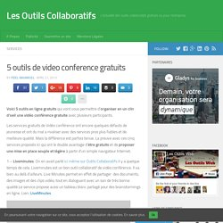 5 outils de video conference gratuits