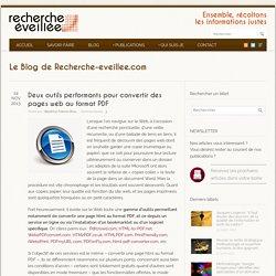 Deux outils pour convertir les pages web au format PDF