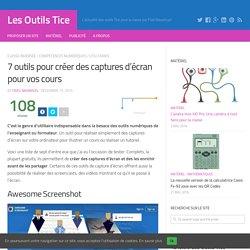 7 outils pour créer des captures d'écran pour vos cours – Les Outils Tice