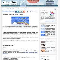 Les outils pour créer un site d'école