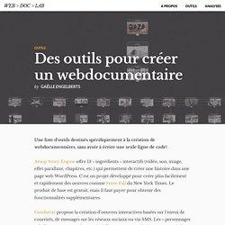 Des outils pour créer un webdocumentaire « Web > Doc > Lab