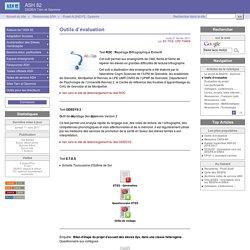 Outils d'évaluation - ASH 82