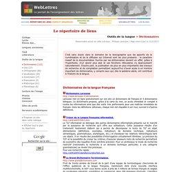 Outils de la langue > Dictionnaires