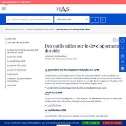 Des outils utiles sur le développement durable