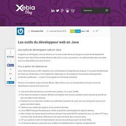 Les outils du développeur web en Java