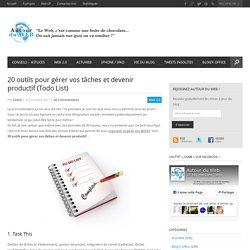 20 outils pour gérer vos tâches et devenir productif (Todo List)