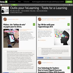 Outils pour l'eLearning - Tools for e-Learning