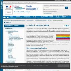 La boîte à outils du CNAM — Enseigner avec le numérique