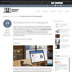 10 outils pour faire un CV en ligne gratuit - Benjamin Yeurc'h