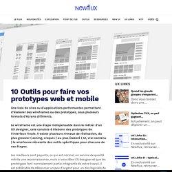 10 Outils pour faire vos prototypes web et mobile