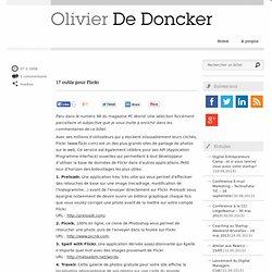 17 outils pour Flickr - Olivier De Doncker