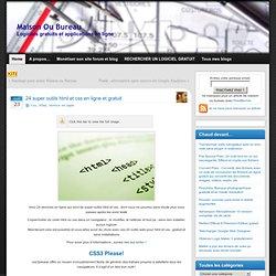 24 super outils html et css en ligne et gratuit