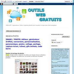OUTILS WEB GRATUITS : IMAGE & PHOTO