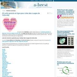 22 outils gratuits en ligne pour créer des nuages de mots-clés