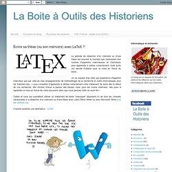 Écrire sa thèse (ou son mémoire) avec LaTeX ?