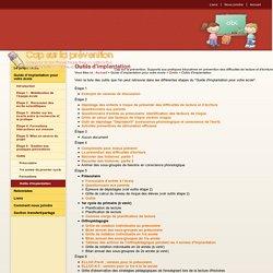 Outils d'implantation - Outils