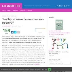 3 outils pour inserer des commentaires sur un PDF – Les Outils Tice