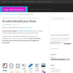 34 outils interactifs pour l'école – Les Outils Tice
