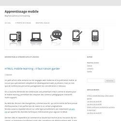 Apprentissage mobile