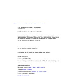 Des outils < Marketing Communication