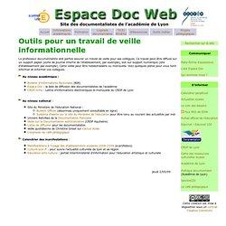 Outils pour le métier : veille - Espace Doc Web - Académie de Lyon