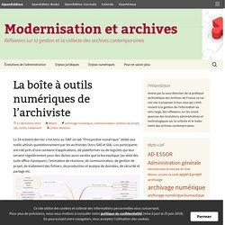 La boîte à outils numériques de l'archiviste
