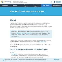 Bons outils numériques pour son projet- eTwinning.fr