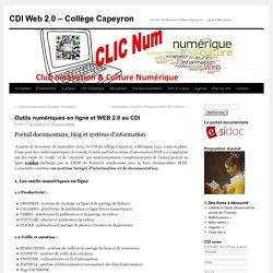 Outils numériques en ligne et WEB 2.0 au CDI Capeyron