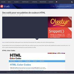 Des outils pour vos palettes de couleurs HTML - b*web