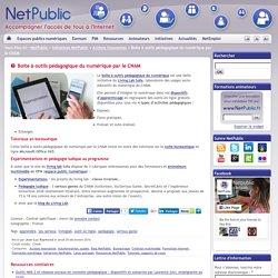 Boite à outils pédagogique du numérique par le CNAM